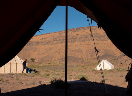 Sleeping in the Sahara