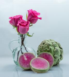 Roses, Watermelon Radish, Artichoke
