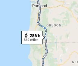 Walking to Tacoma