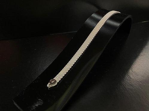 Mesh Style Silver Bracelet