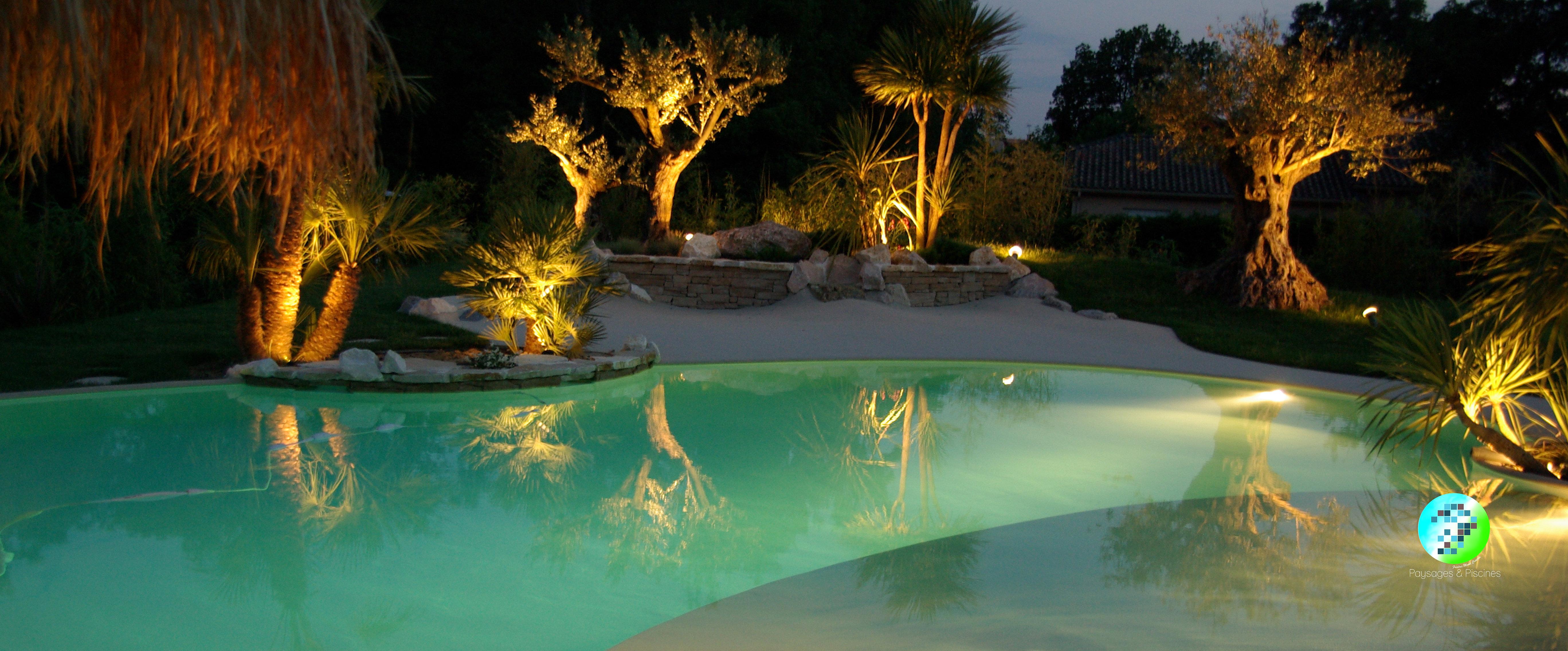 Paysages et piscines paysagiste lyon accueil eclairage for Piscine 3 05 x 1 22