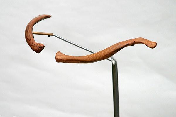 Homo Sapien Clavicles: Carved Cedar, Steel and Brass Mount, Pedestal, 2007 ©