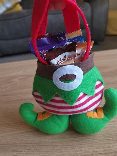 Elf Chocolate treats and bag