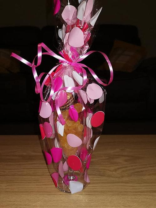 Prosecco sweets in a prosecco glass