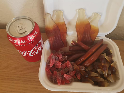 500g cola box sweets with 1x 330ml coke can