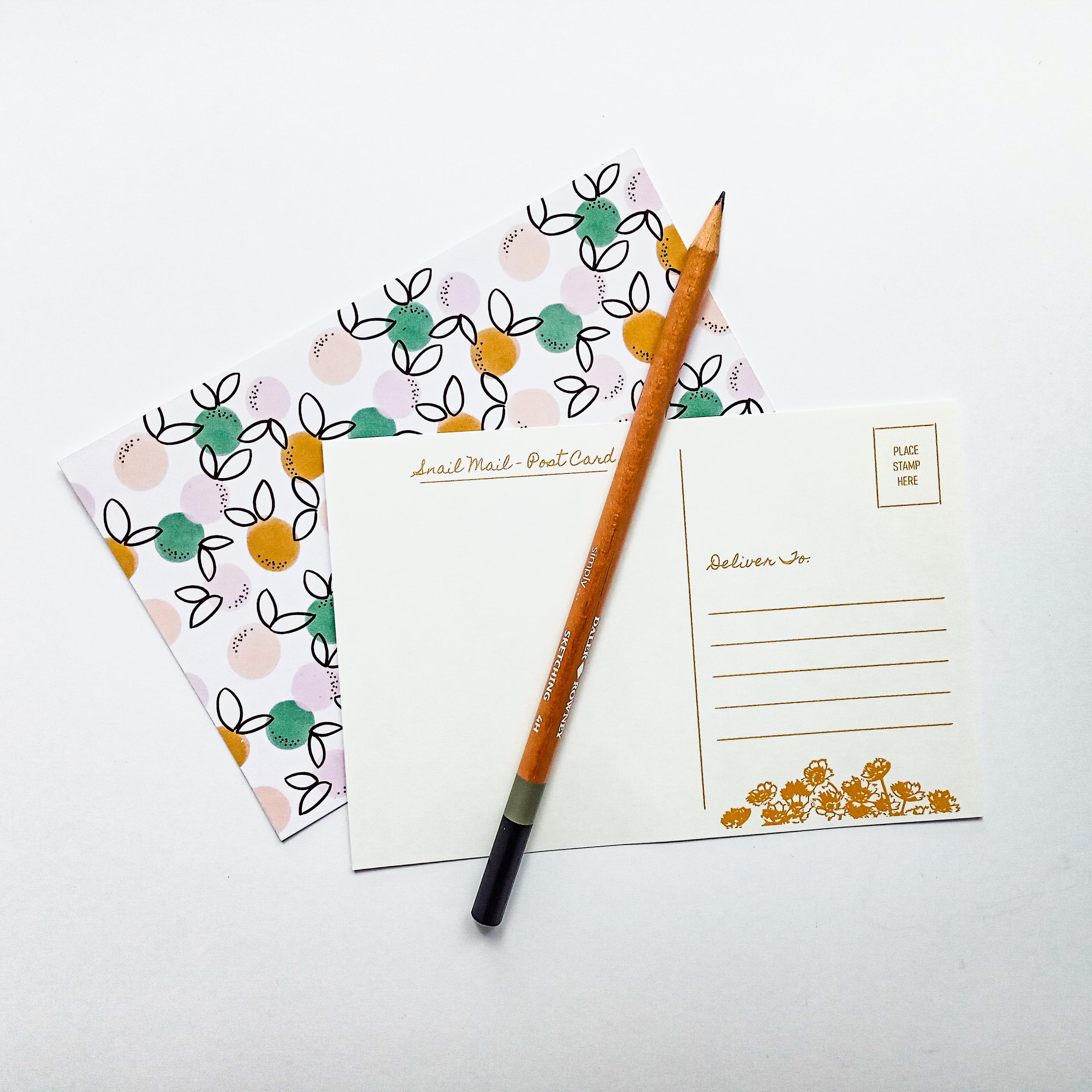 6x4 Post Card Back Printable