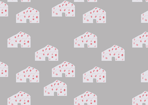 Wallpaper and textile designs for  chlidren's room in a hotel Panorama in Levi, Lapland Finland.  Original drawings are made by Setri 5 years, which are designed as a wallpaper. Printed. Pattern for sale. Please, contact for more info.