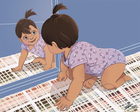 Bébé VS le miroir