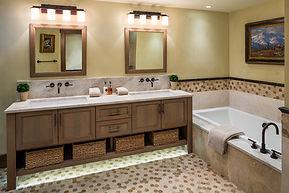 Bathroom, Bath, Tile, Mosaic, Vanity, tub, bath tub, lighting, light, sink, faucet, tub filler, artwork, mirror, accent