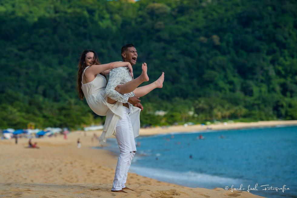 Isa&Marcio Ensaio casal Praia Toque Toque