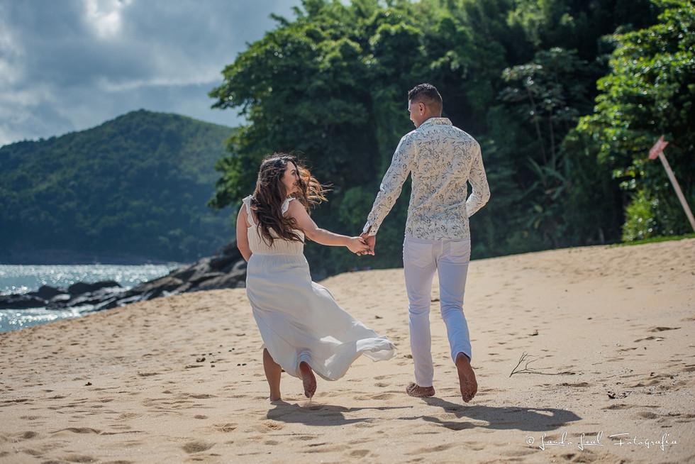 Ensaio casal Praia Toque Toque