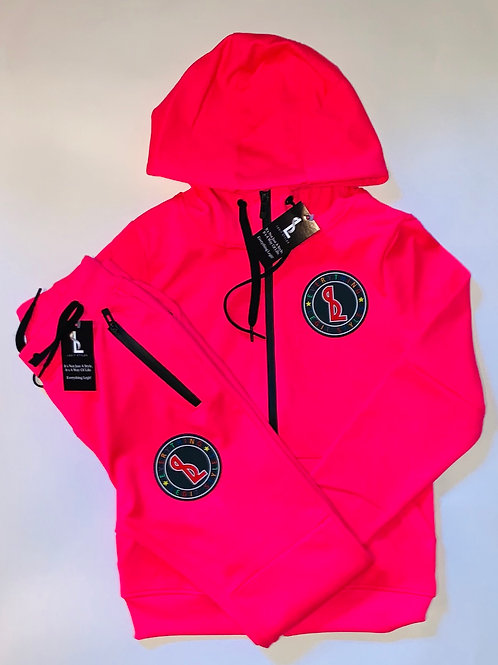 Everything Legit Track Suit - Pink