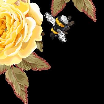 bee-bird-flower-pattern-yellow-beautiful