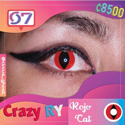 Crazy Lens Red Cat / Rojo