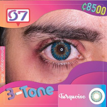 3-Tone Turquoise / Azul Turquesa