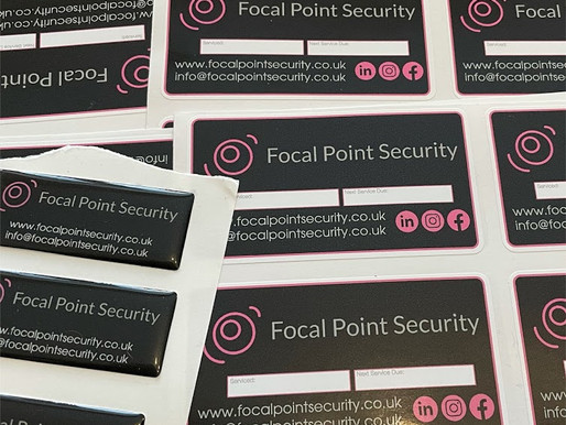 Focal Point Security Stickers