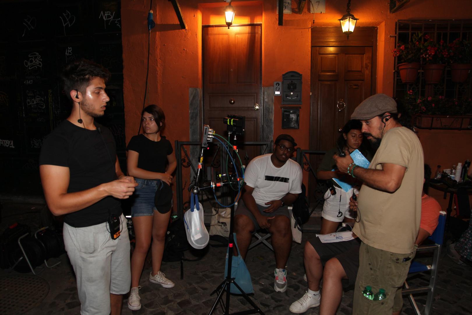 GFS NY Fellows on set.