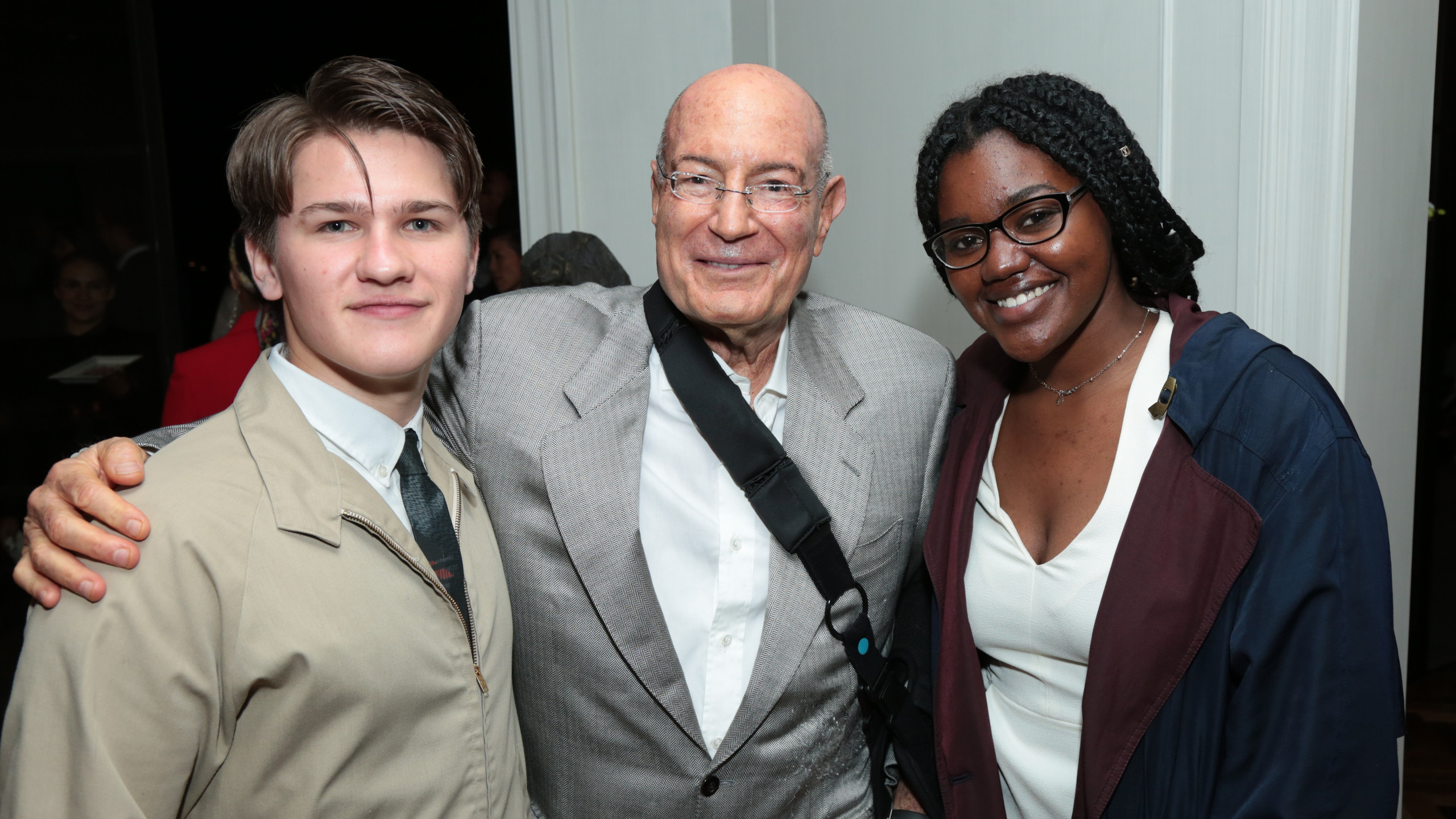 Niko Baur, Arnon Milchan, Joyous Herron   (Photo: Alex J. Berliner / ABImages )