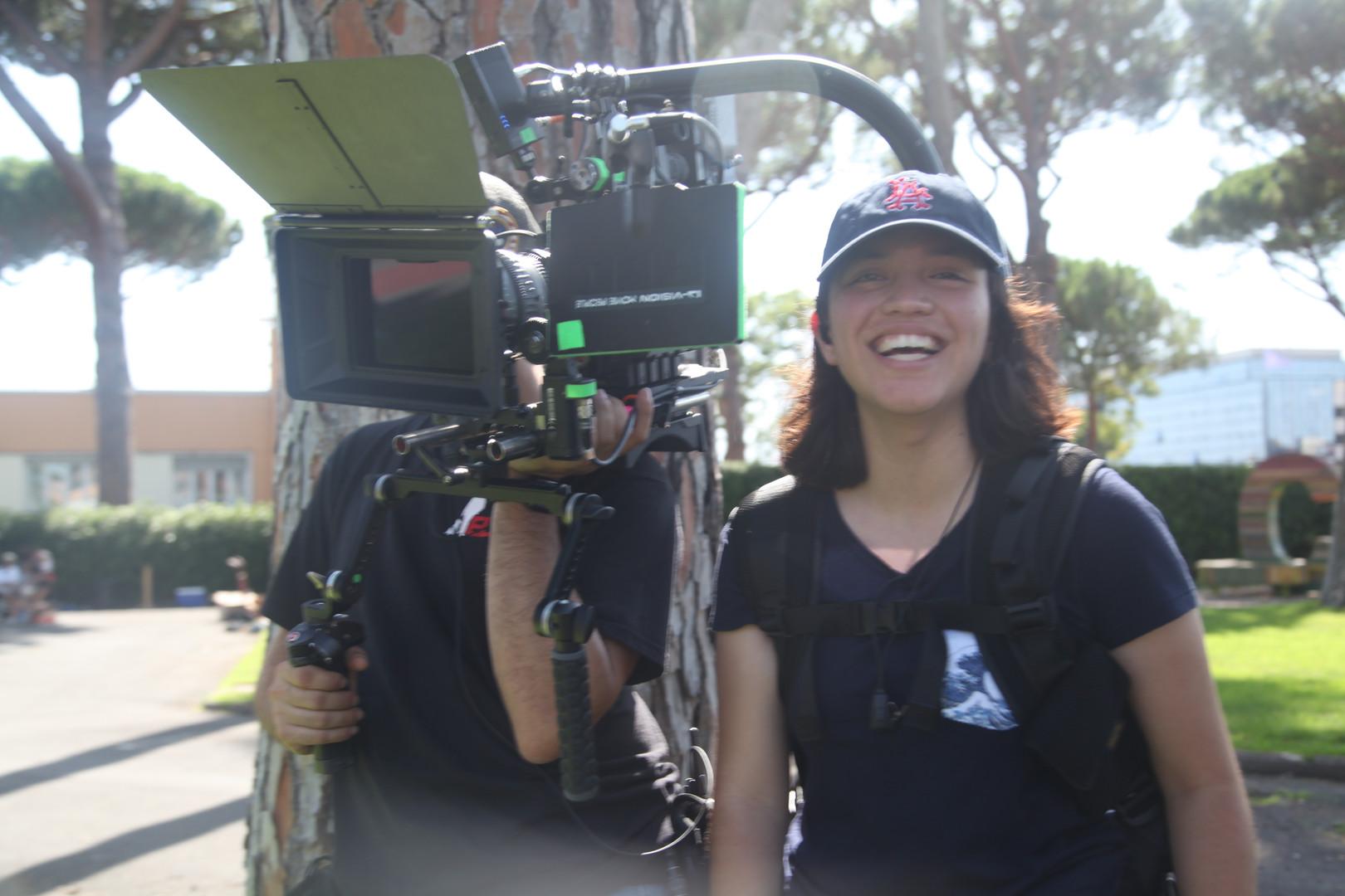 GFS NY Fellow, Katelyn Valdez on set in Rome