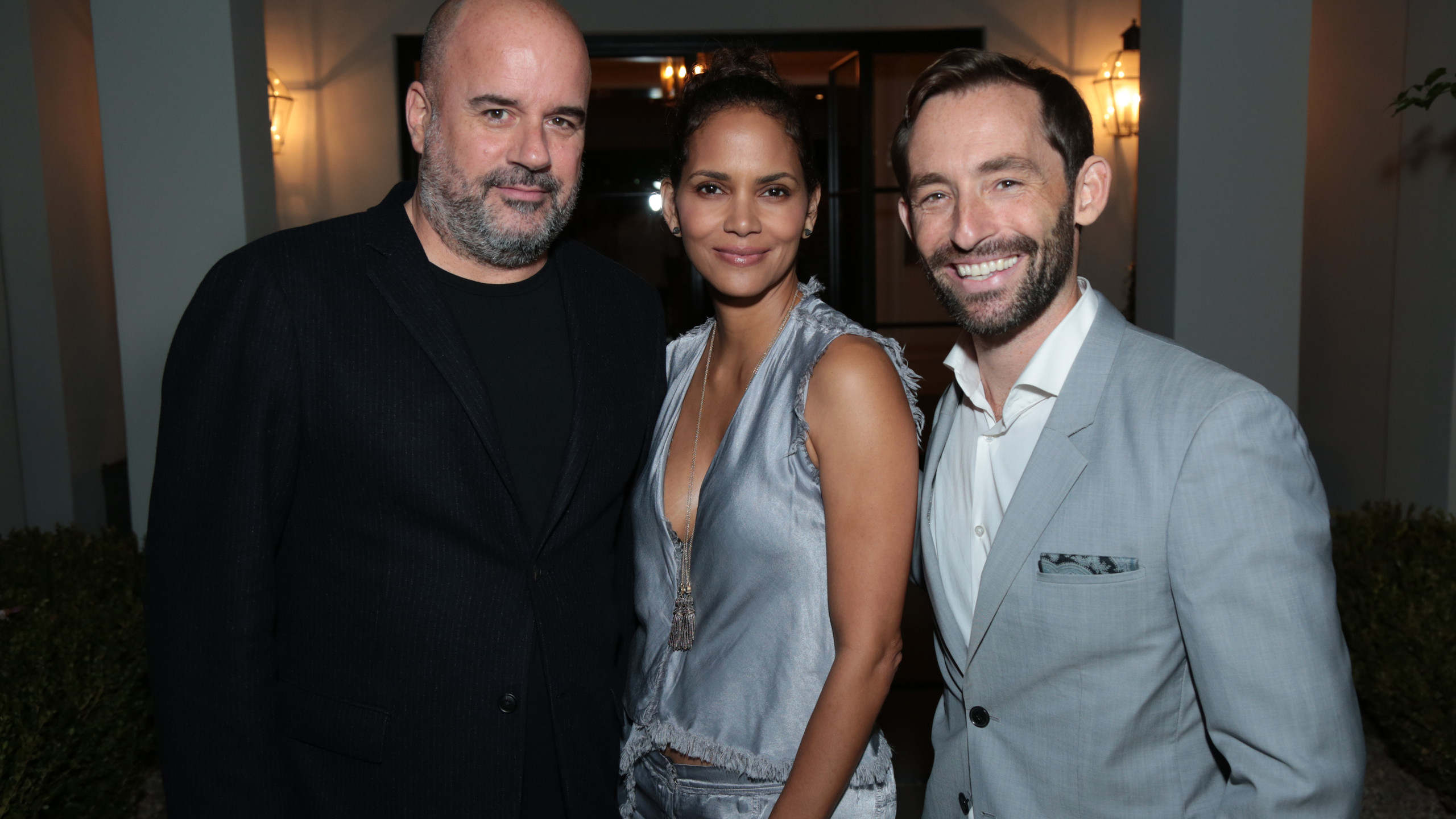 GFS Founder and President Joe Hall, Halle Berry, GFS LA Executive Director, Stosh Mintek (Photo: Alex J. Berliner / ABImages )