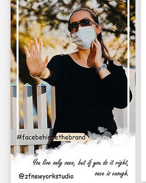 We say no to corona  #facebehindthebrand