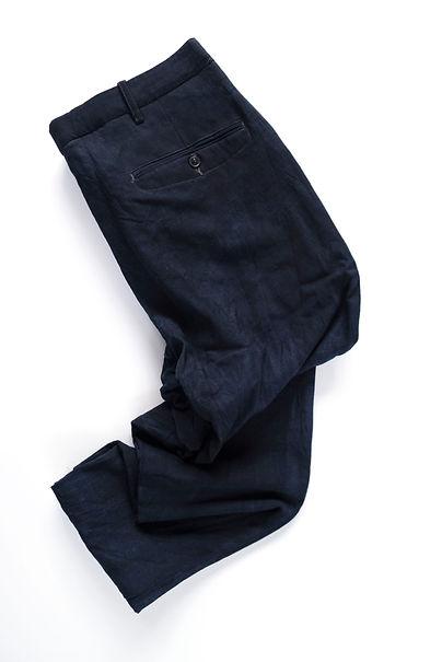 Zero Object flat front indigo pant