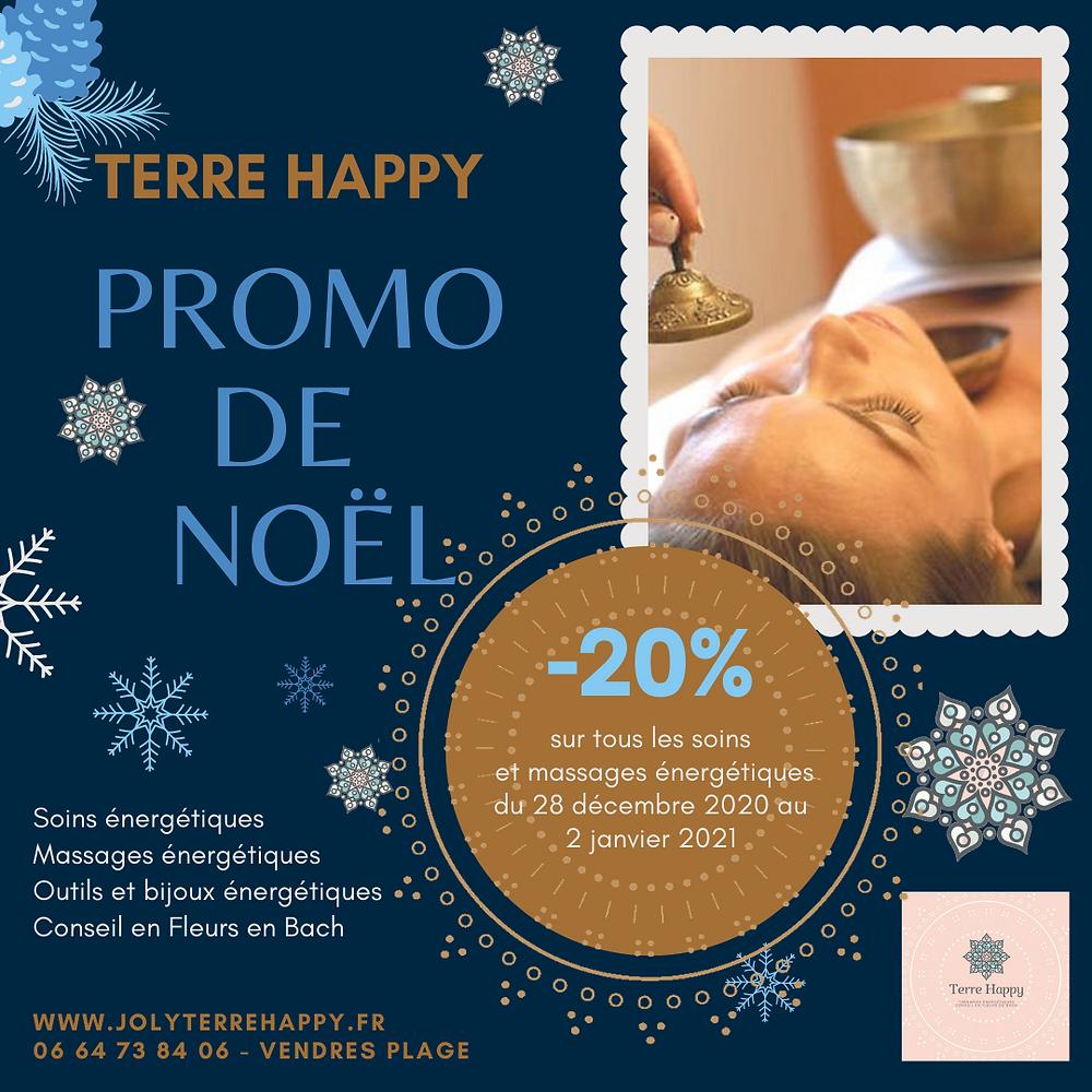 Promo de Noël sur les soins et massages énergétiques