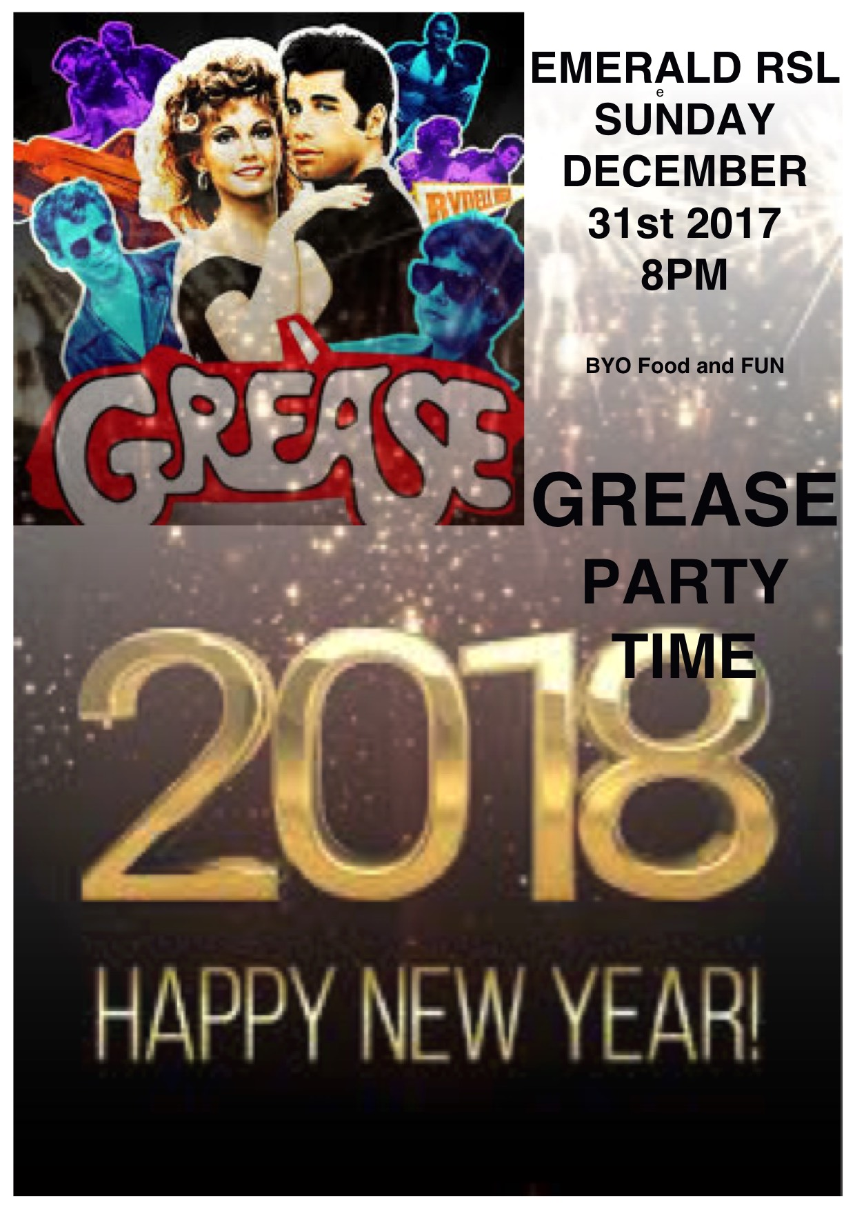 GREASE NYE 2017