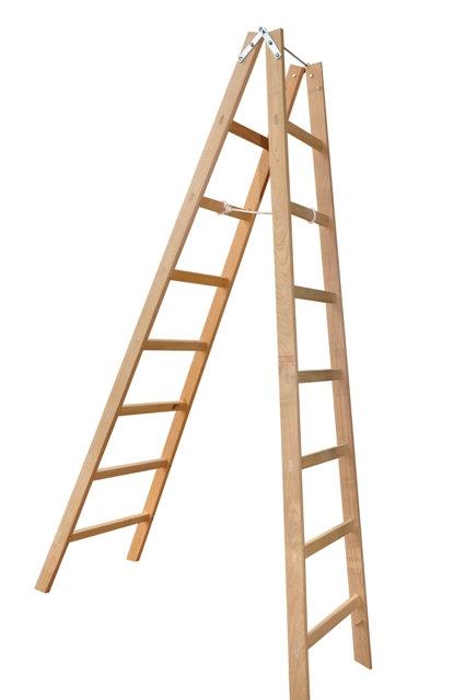 Escada Pintor em Madeira - 14 Degraus