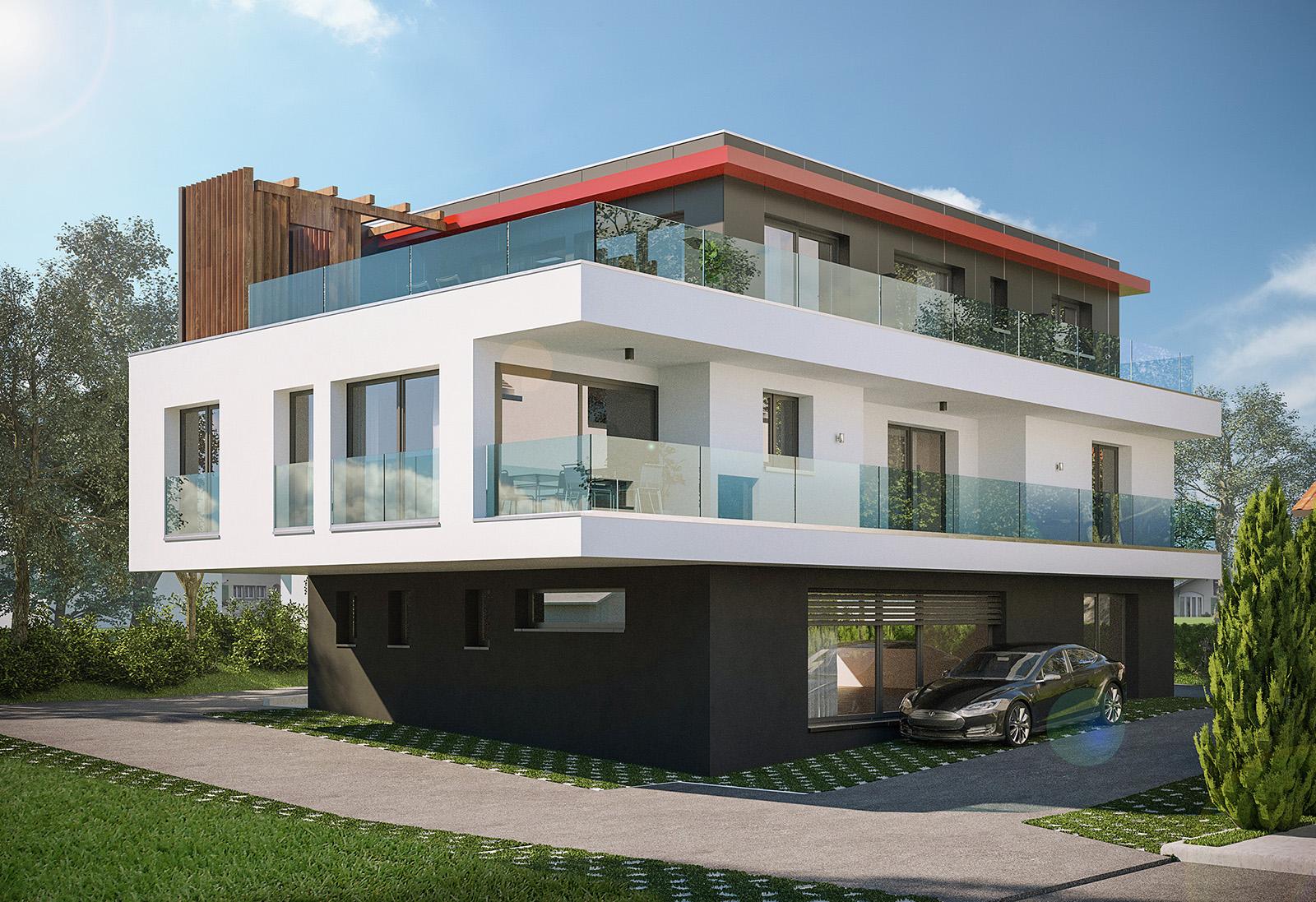 Immeuble mixte (surface commerciale et logements)