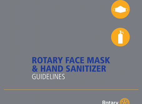 Rotary Face Mask and Hand Sanitizer Guidelines