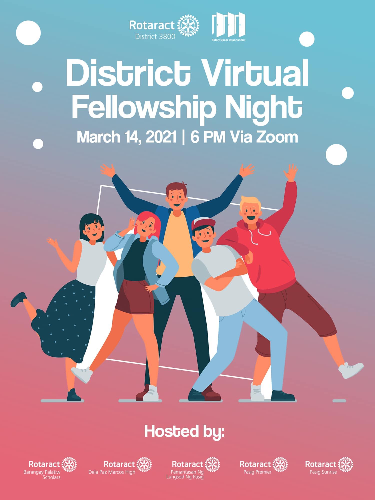 District 3800 Virtual Rotaract Fellowship Night