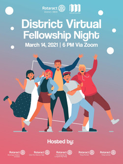 District 3800 Virtual Rotaract Fellowship Night