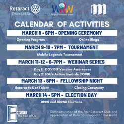 District 3830 World Rotaract Week Fellowship Activities