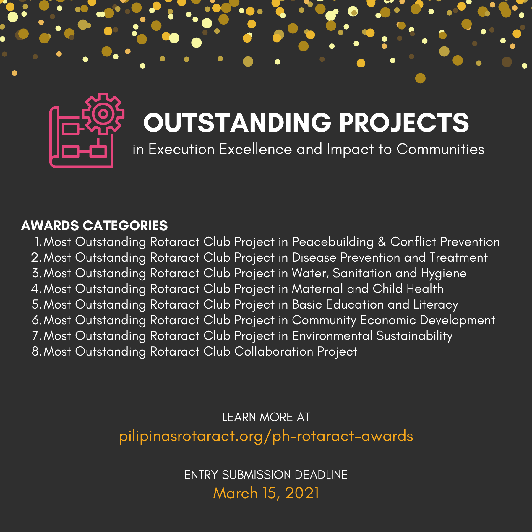 Awards for Outstanding Rotaract Club Service Projects