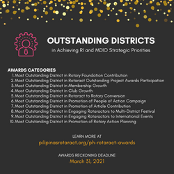 Awards for Outstanding Districts