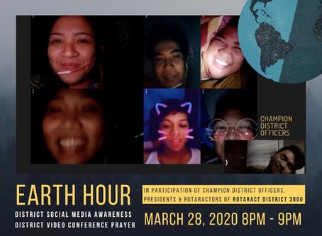 Rotaractors of District 3800 mark Earth Hour 2020