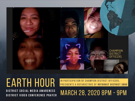 Rotaractors of District 3800 mark Earth Hour 2020