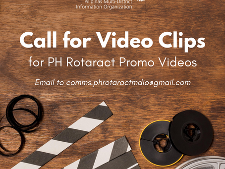 Pilipinas Rotaract Promotional Video Call for Clips Submission
