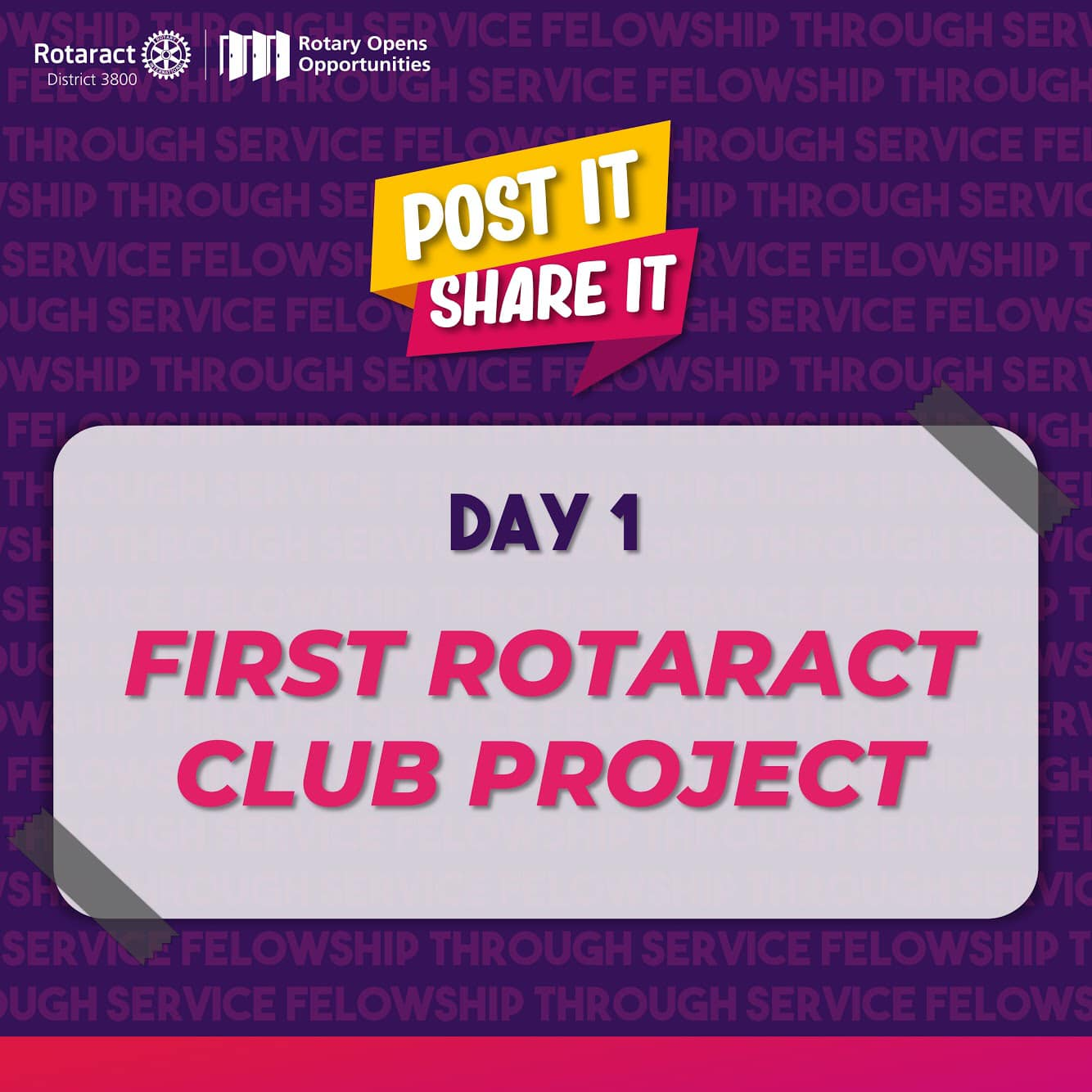 Post Your First Ever Rotaract Project