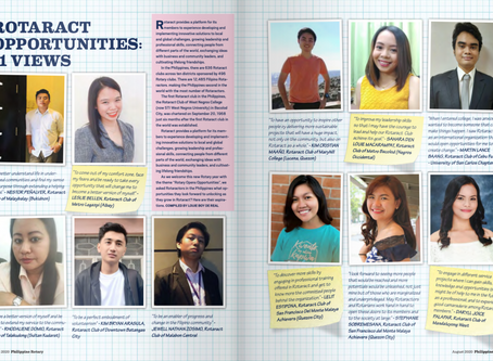 Rotaract Opportunities: Views from 11 PH Rotaractors