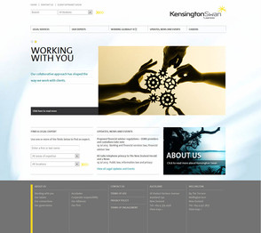 Kensington Swan Content Management System (CMS), updating the website and uploading graphics via Kentico