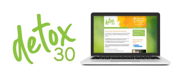Logo, banner and splash background design for detox30