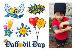Daffodil Day tattoo illustrations