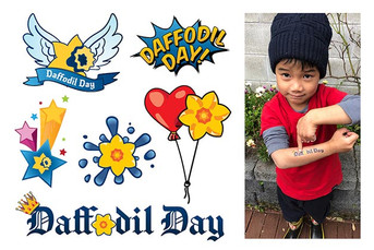 Daffodil Day tattoo illustration