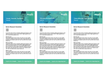 Douglas Branded Seek templates