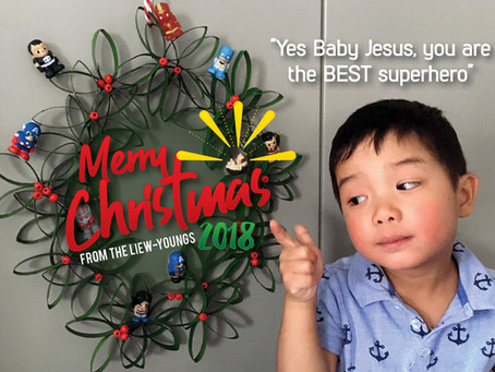 Yes Baby Jesus, you are the BEST superhero