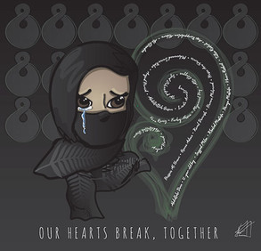 Our hearts break, together