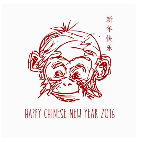 Year of the Monkey illustration by Koreen Liew-Young