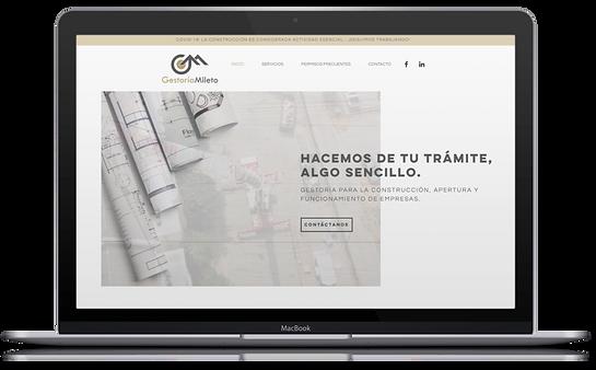Página Web - Gestoría Mileto